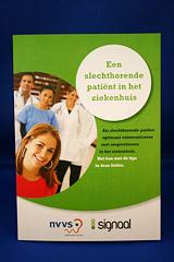 Folder Tips voor de slechthorende patiënt in het ziekenhuis - NVVS